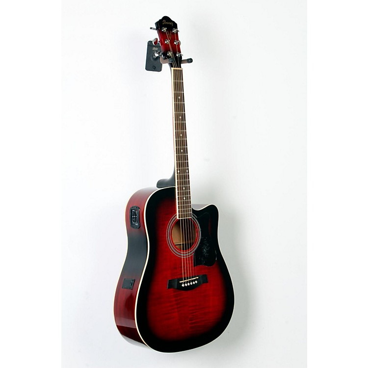 IbanezV70FMCE Dreadnought Cutaway Acoustic-Electric GuitarTransparent Red Sunburst888365782881