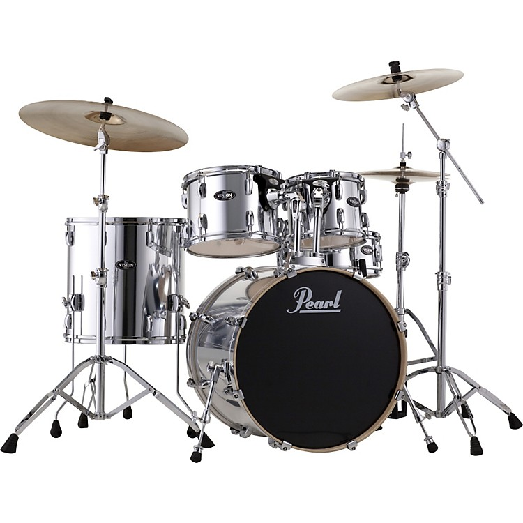 Pearl VB Vision Birch 5 Piece Shell Pack Jet Black
