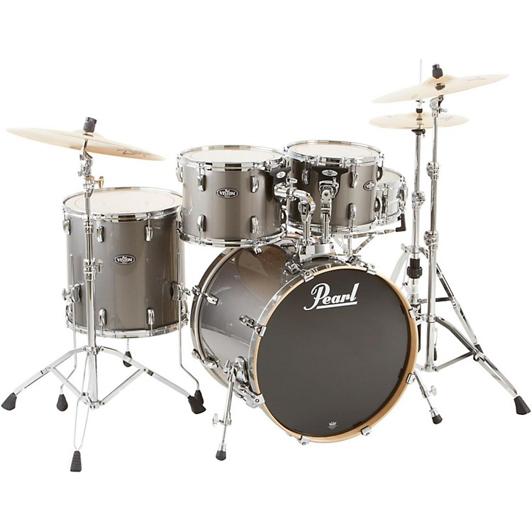 PearlVBL Vision Birch 5 Piece Shell PackGraphite with Chrome Hardware