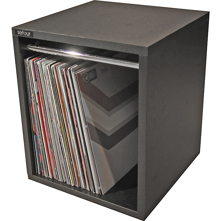 Sefour VC030 60 LP Record Box Black