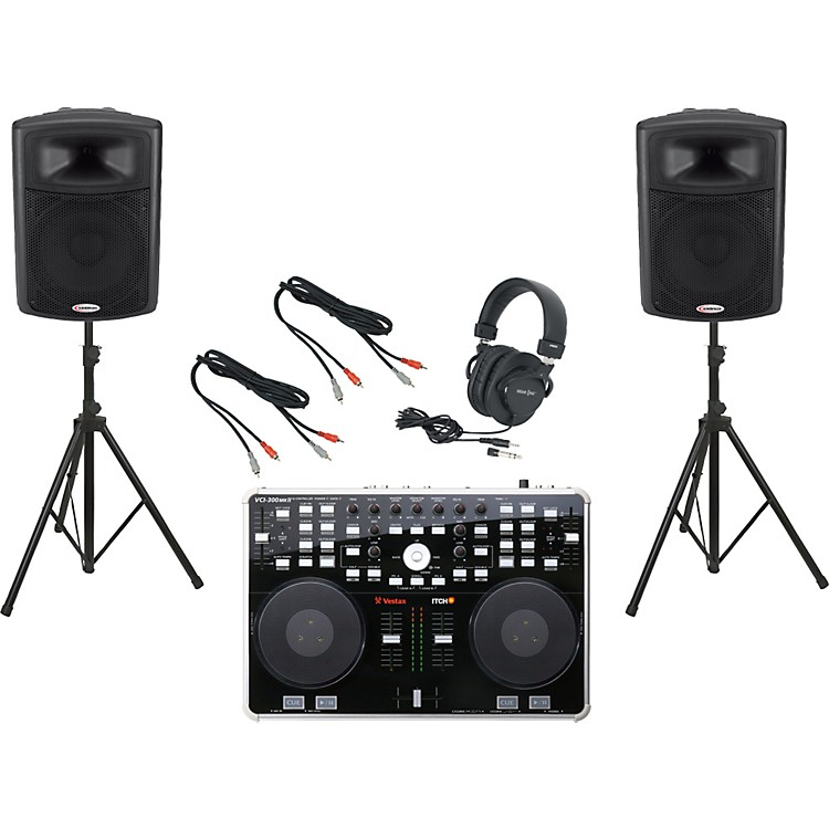 Vestax VCI-300 MKII / Harbinger APS15 DJ Package