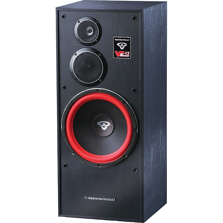 Cerwin vega ve 12f 3 way tower speaker music123 for 12 inch floor speakers