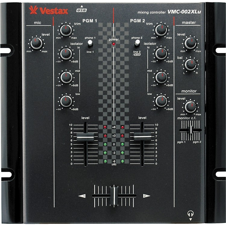 Vestax VMC-002XLu 2-Channel USB DJ Mixer Black