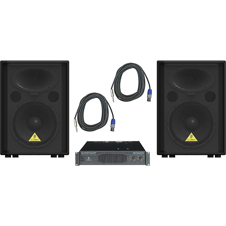 Behringer VP1220 / EP2000 Speaker & Amp Package