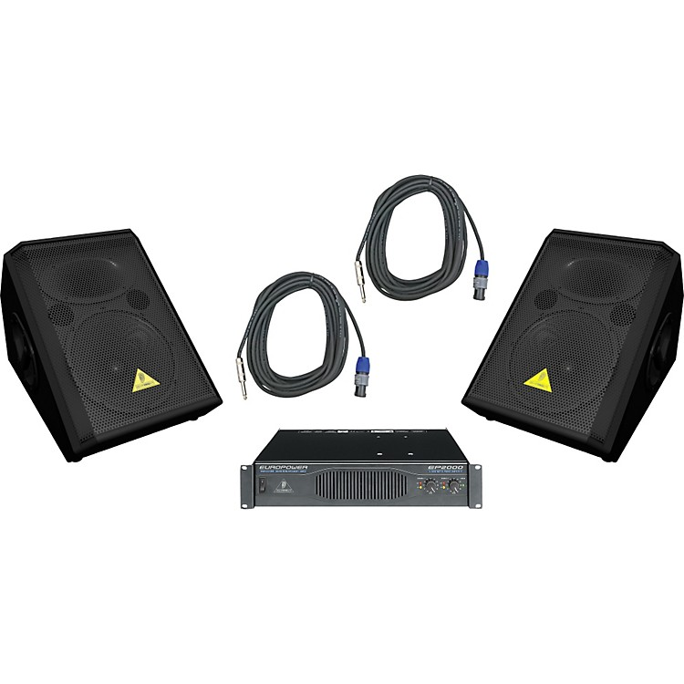 Behringer VP1220F / EP2000 Speaker & Amp Package