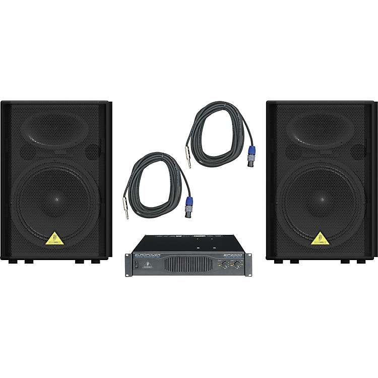 Behringer VP1520 / EP2000 Speaker & Amp Package