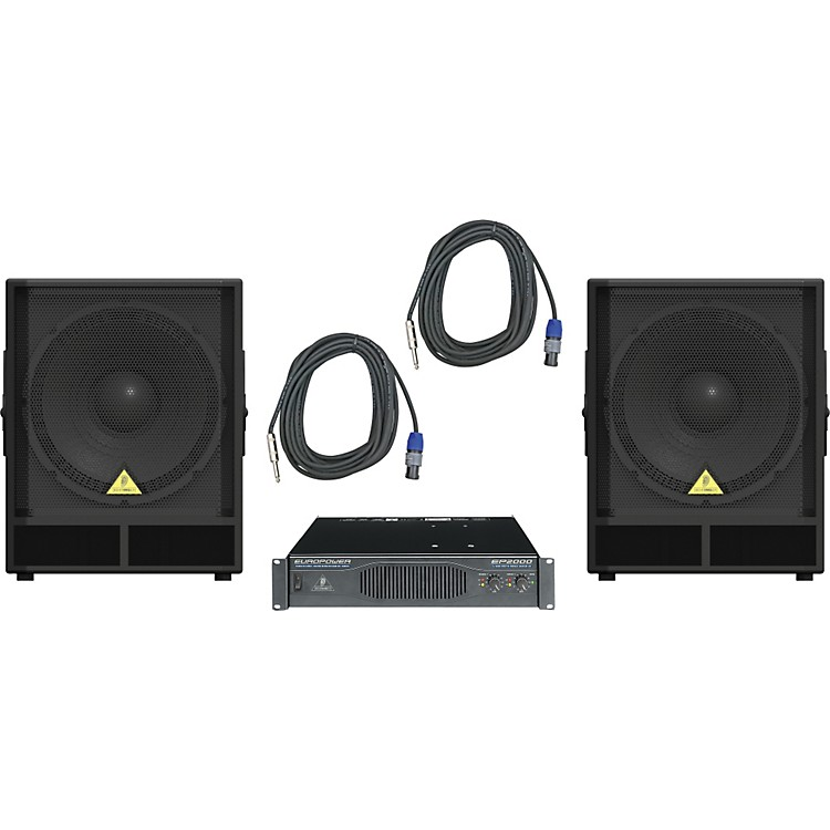 Behringer VP1800S / EP2000 Speaker & Amp Package