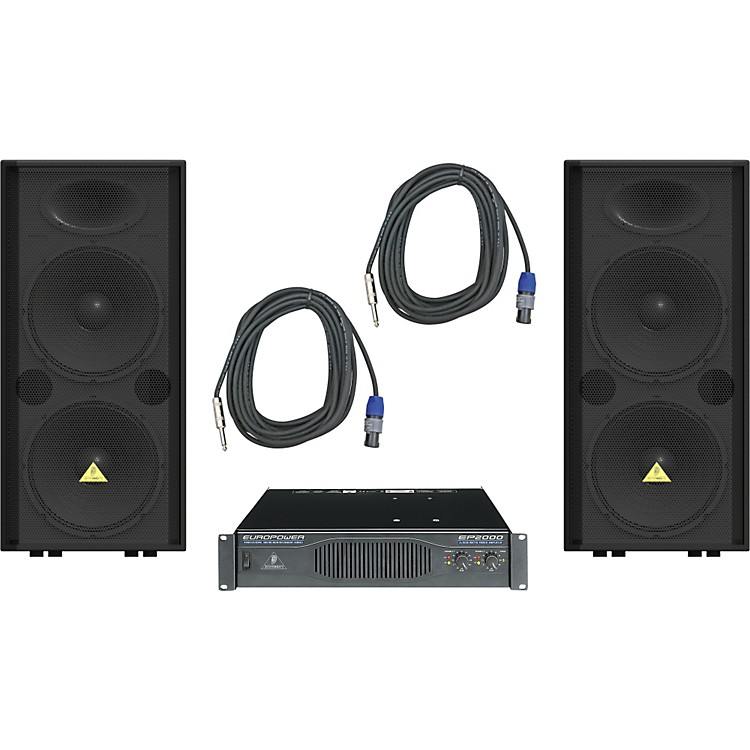 Behringer VP2520 / EP2000 Speaker & Amp Package