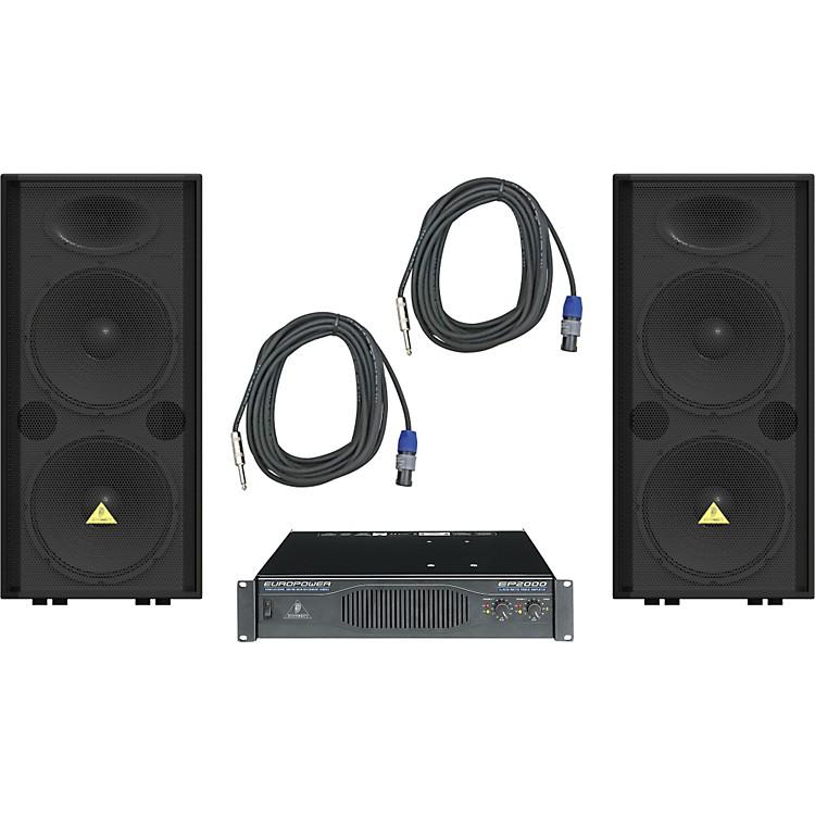 BehringerVP2520 / EP2000 Speaker & Amp Package