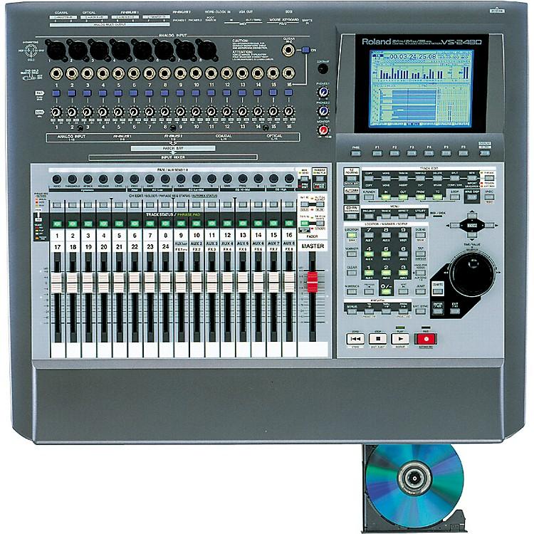 roland vs 2480cd 24 track digital studio with built in cd burner music123. Black Bedroom Furniture Sets. Home Design Ideas