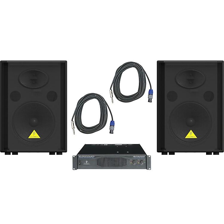 BehringerVS1220 / EP2000 Speaker & Amp Package