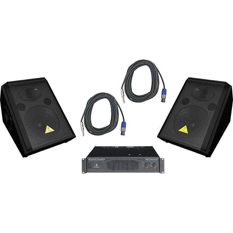 Behringer VS1220F / EP2000 Speaker & Amp Package