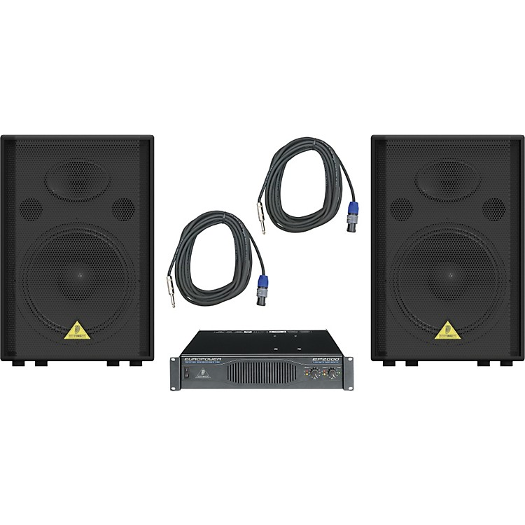 Behringer VS1520 / EP2000 Speaker & Amp Package