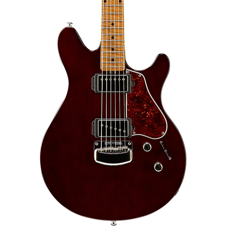 Ernie Ball Music Man Valentine Signature Figured Roasted Maple Neck Electric Guitar Transparent Maroon