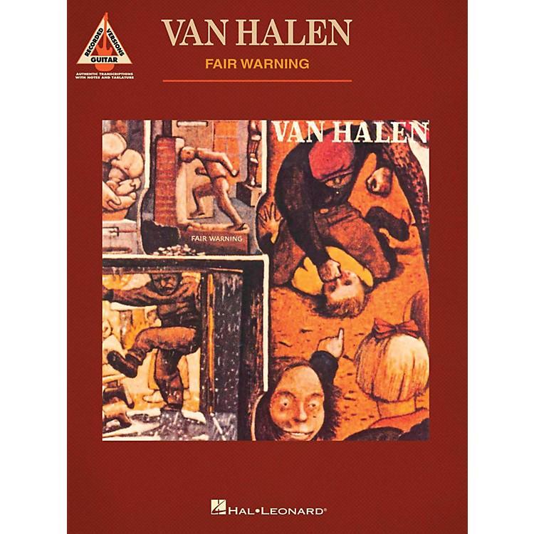 Hal LeonardVan Halen - Fair Warning Guitar Tab Songbook