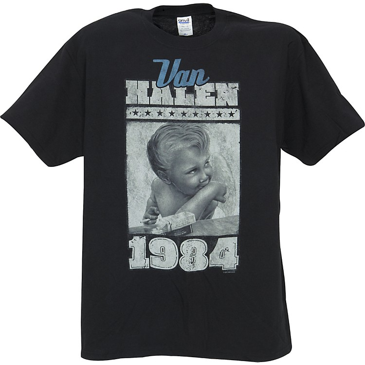 FEA Merchandising Van Halen Vintage Baby 1984 T-Shirt Black Medium