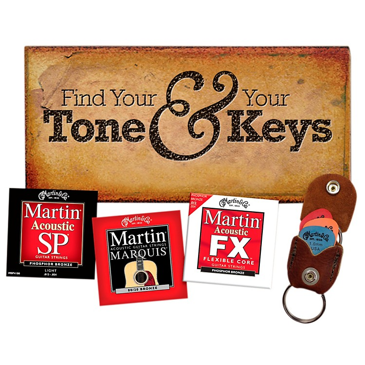 MartinVariety String Pack With Keychain/Pick Holder (3 Sets)