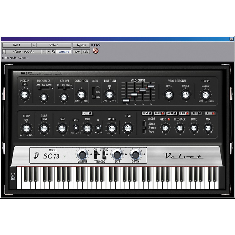 Digidesign Velvet - Virtual Electric Piano