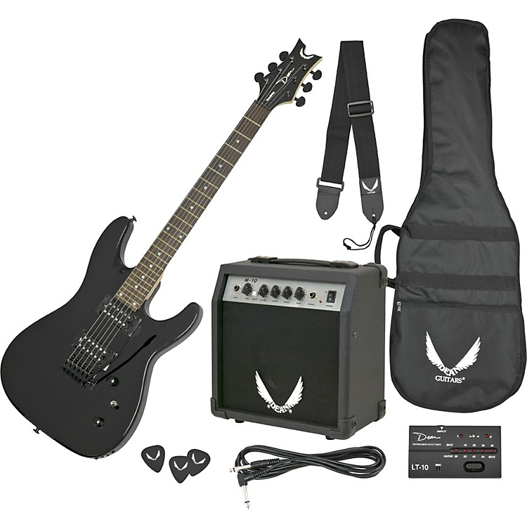 Dean Vendetta Guitar & Amp Pack Metallic Black