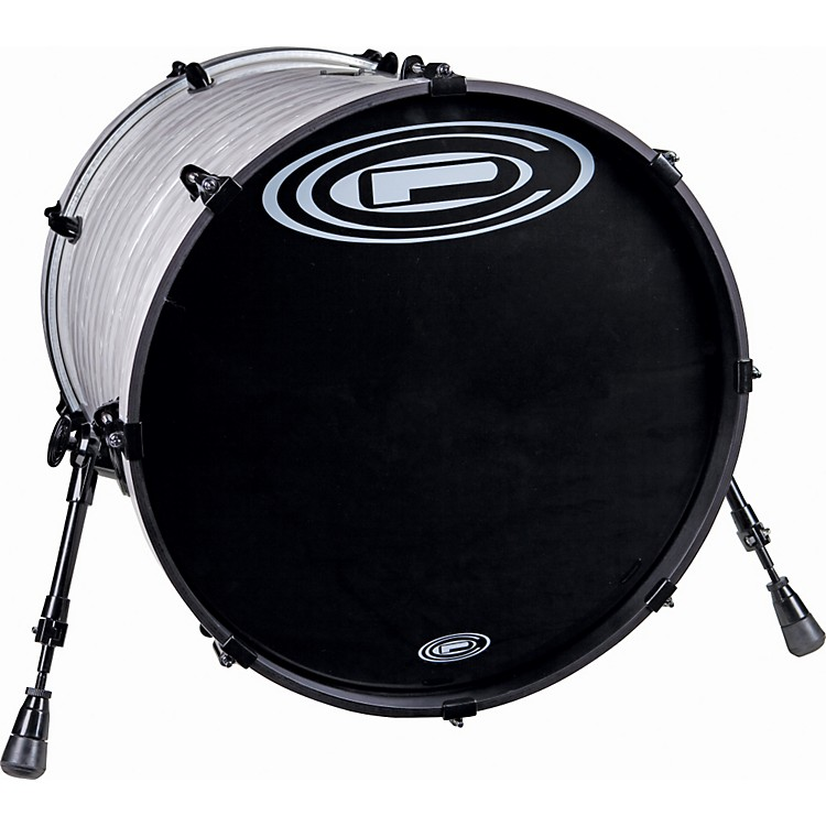 Orange County Drum & Percussion Venice Bass Drum 20x20 Black White Strata