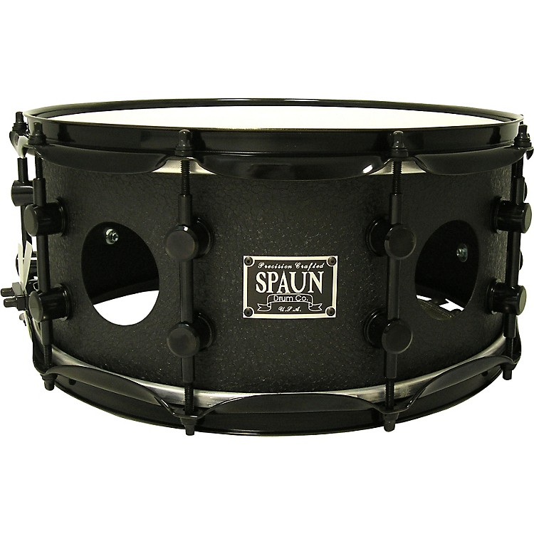 Spaun Vented Steel Snare Black Wrinkle
