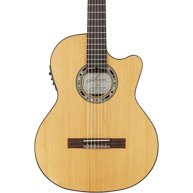 KremonaVerea Cutaway Acoustic-Electric Nylon GuitarNatural