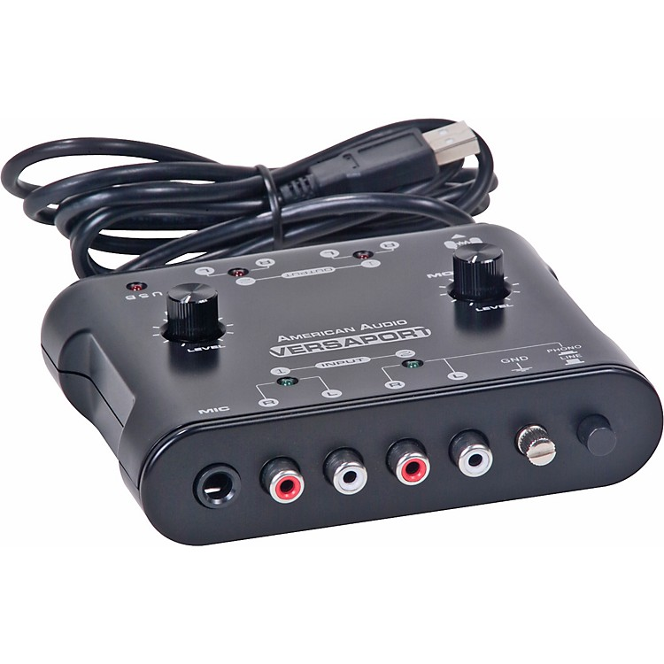 American Audio Versaport 2 Stereo In/2 Stereo Out USB Audio Interface