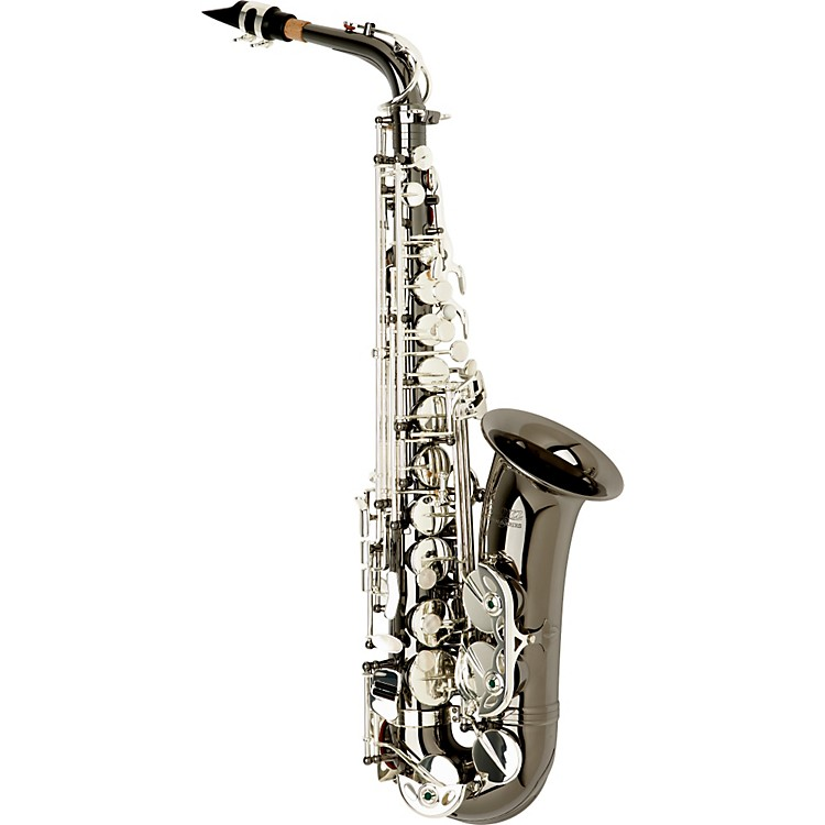 Allora Vienna Series Intermediate Alto Saxophone AAAS-505 - Black Nickel Body - Silver Plated Keys