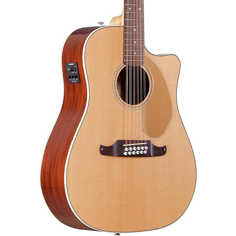 Fender Villager SCE Solid Top 12-String Acoustic Electric Guitar Natural