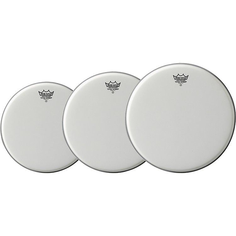 Remo Vintage Emperor Drum Head 3-Pack, 8/10/12
