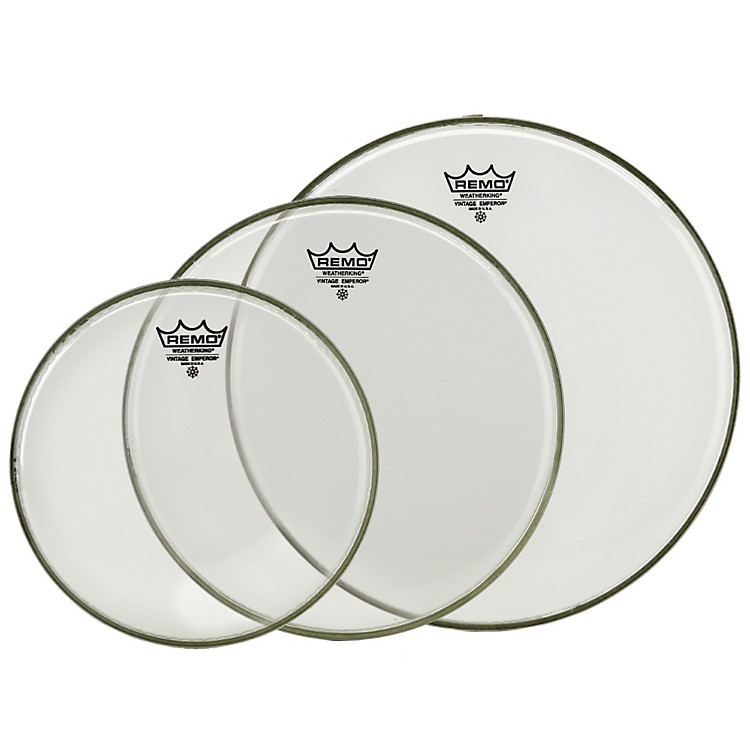 RemoVintage Emperor Tom Drumhead Pack (Clear)10 in.Clear