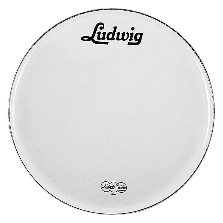 Ludwig Vintage Logo Bass Drumhead White 22 in.