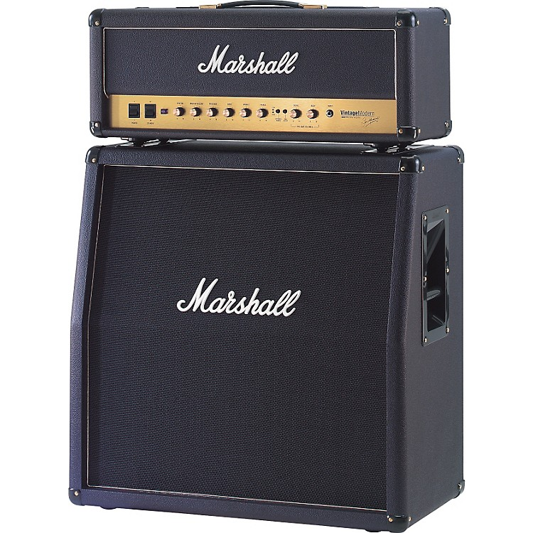 Marshall Vintage Modern 425 100W 4x12 Guitar Speaker Cabinet Black Straight