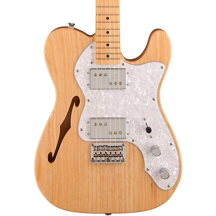 Squier Vintage Modified 72 Telecaster Thinline Maple Neck Electric Guitar Natural