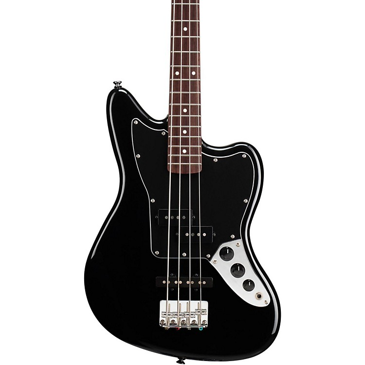 Squier Vintage Modified Jaguar Bass Special SS (Short Scale) Rosewood Fretboard Black