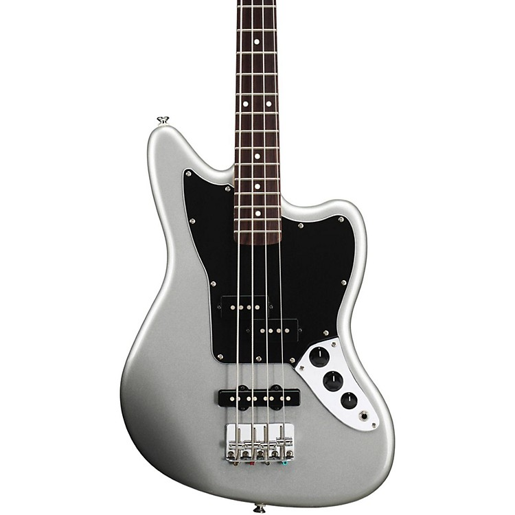 SquierVintage Modified Jaguar Bass Special SS (Short Scale)Rosewood FretboardSilver