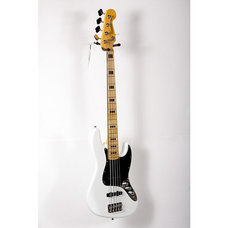 Squier Vintage Modified Jazz Bass V 5-String Electric Bass Olympic White 888365906218