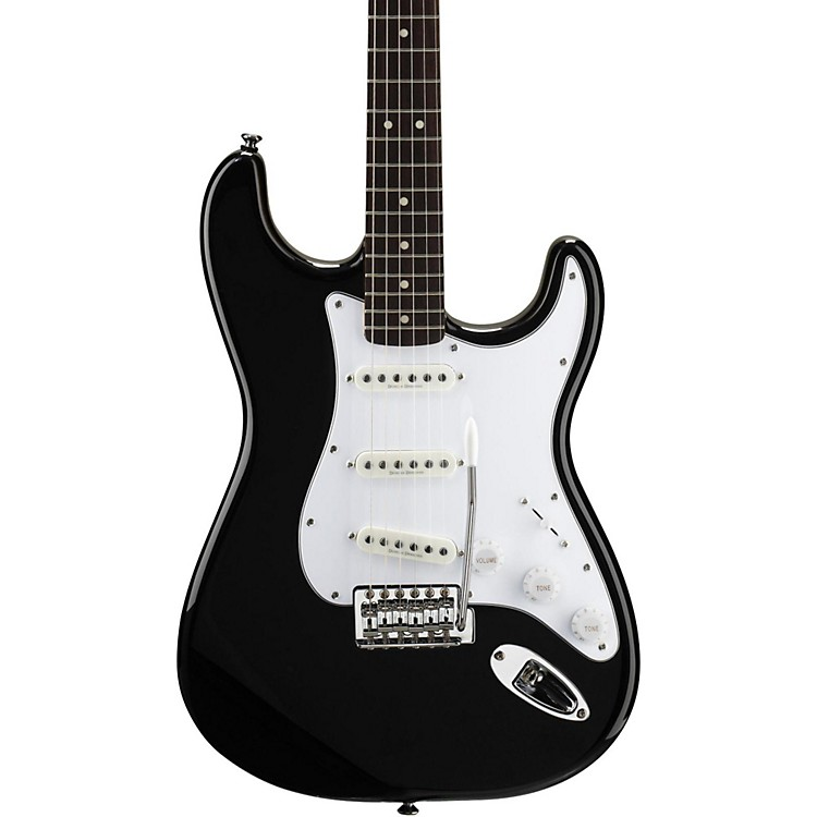 SquierVintage Modified Stratocaster Electric GuitarBlackRosewood Fretboard