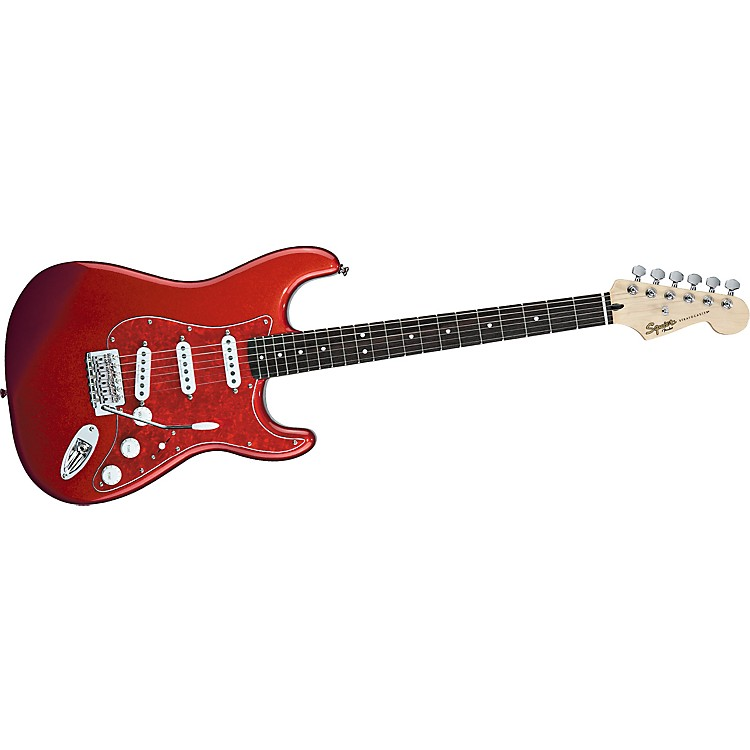 Squier Vintage Modified Stratocaster SSS Electric Guitar Metallic Red