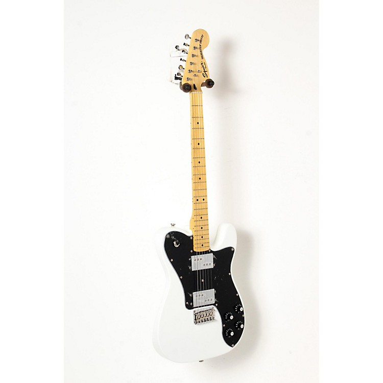 Squier Vintage Modified Telecaster Deluxe Electric Guitar Olympic White, Maple Fingerboard 888365844664