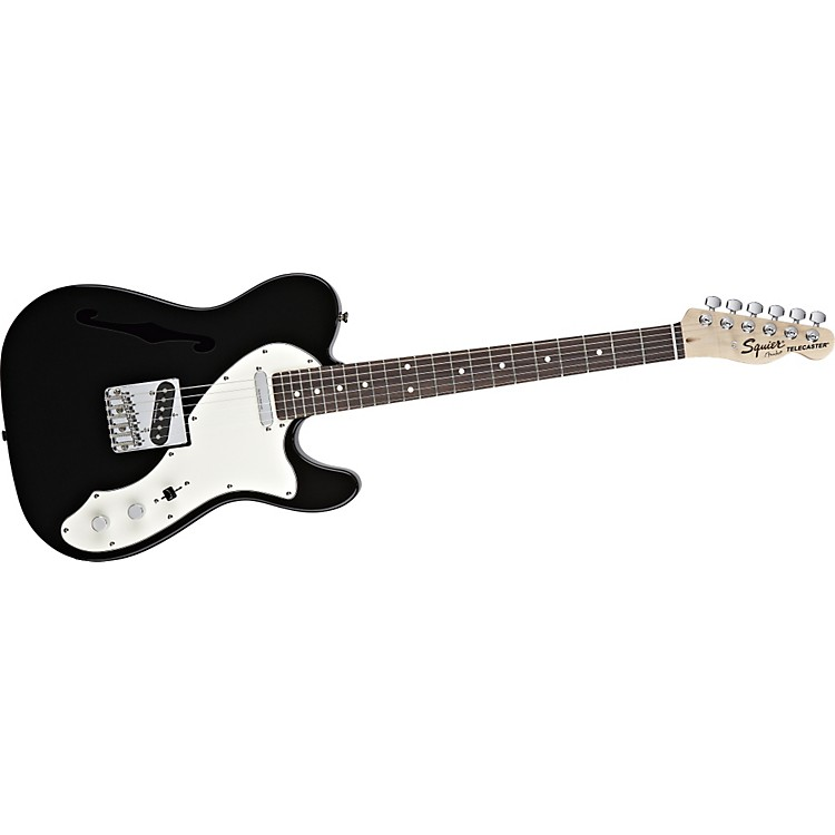 Squier Vintage Modified Telecaster Thinline Electric Guitar Black