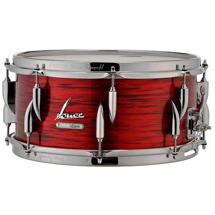 Sonor Vintage Series Snare Drum 14 x 5.75 in. Vintage Red Oyster