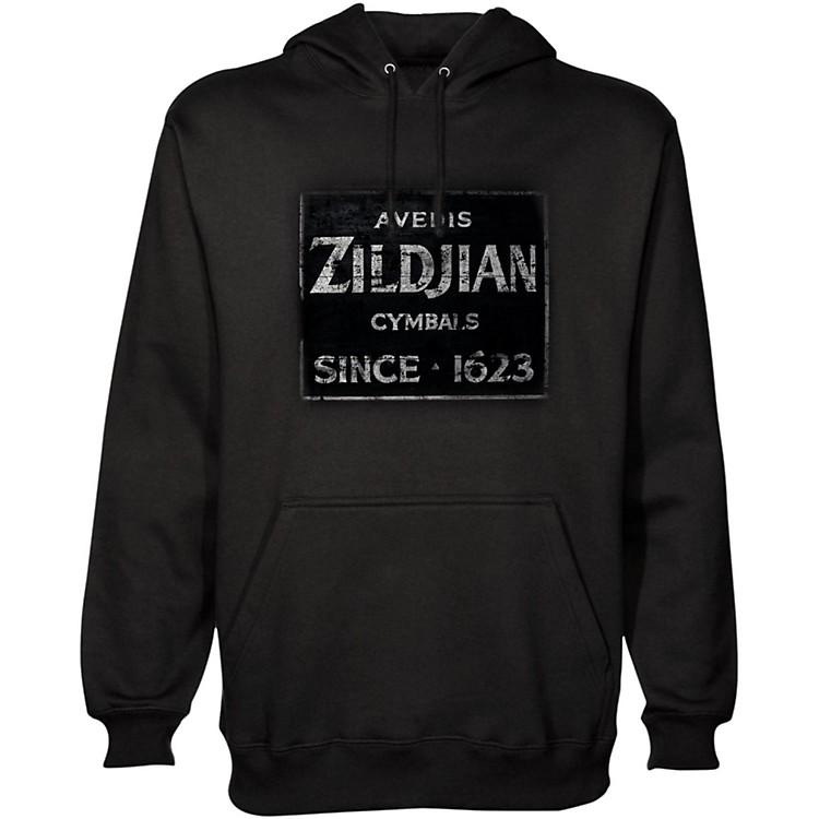 Zildjian Vintage Sign Pullover Hoodie Black Medium