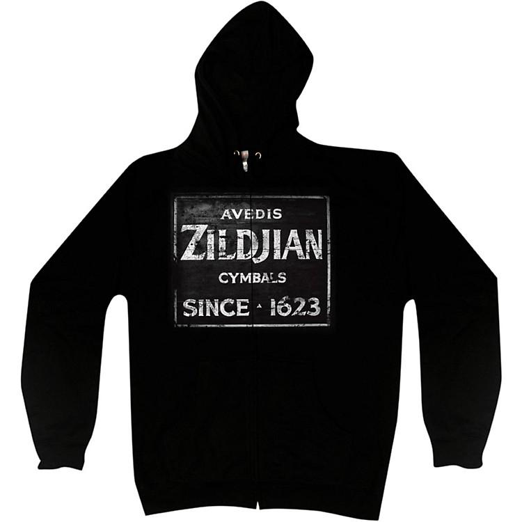 ZildjianVintage Sign Zip HoodieBlackLarge