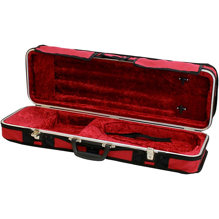 Hiscox Cases Violin Case Rectangular Fitted Burgundy Exterior, Red Interior