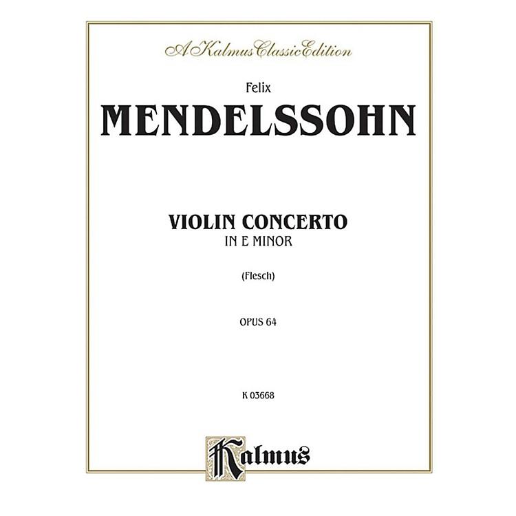 AlfredViolin Concerto Op. 64 for Violin By Felix Mendelssohn / arr. Carl Flesch Book