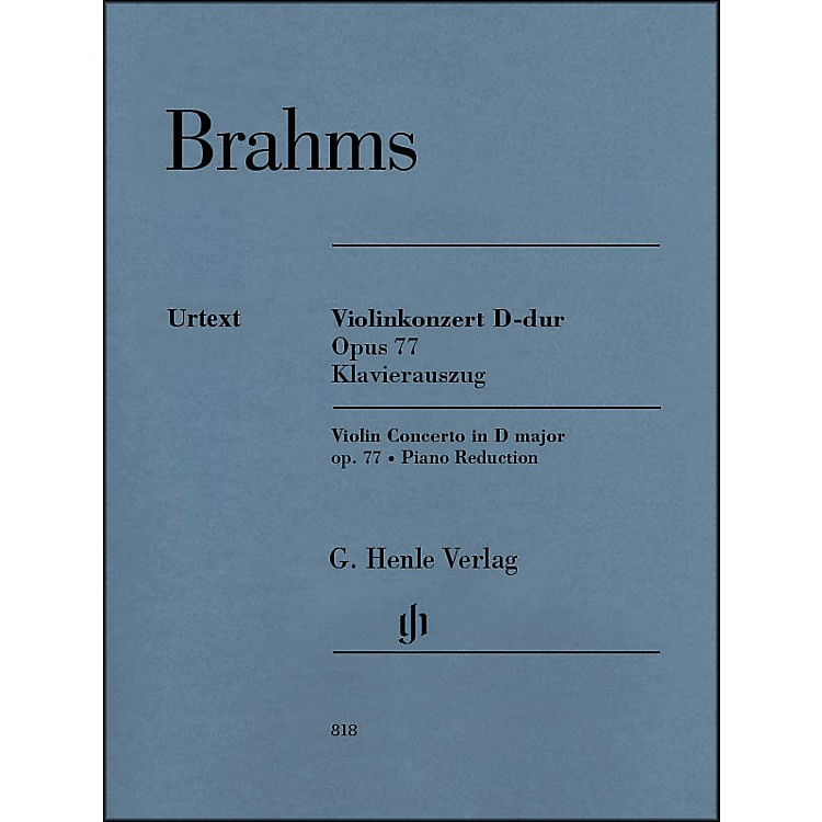 G. Henle VerlagViolin Concerto in D Major, Op. 77 By Brahms