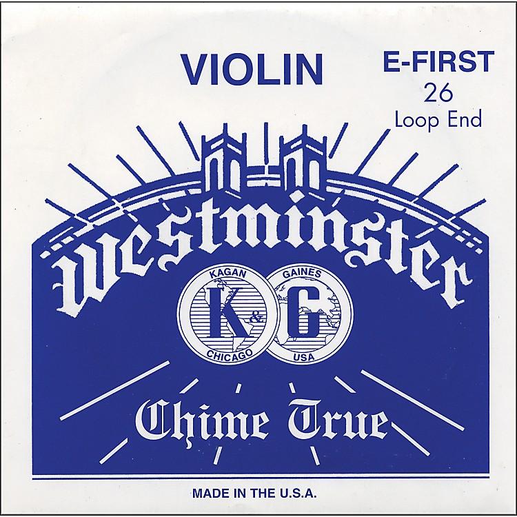WestminsterViolin E  StringE, 26 Ga. Loop End