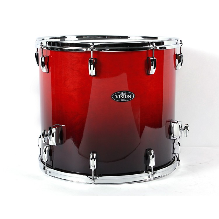 Pearl Vision Birch Lacquer Floor Tom Ruby Fade 18 x 16 in.