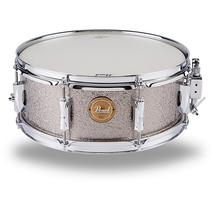 PearlVision Birch Snare DrumGun Metal Sparkle with Chrome Hardware14x5.5